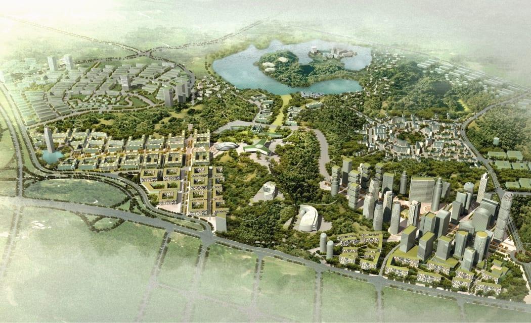 P107 RKW Xuancheng China Stadtplanung Masterplan Wettbewerbsbeitrag 1 Preis 01