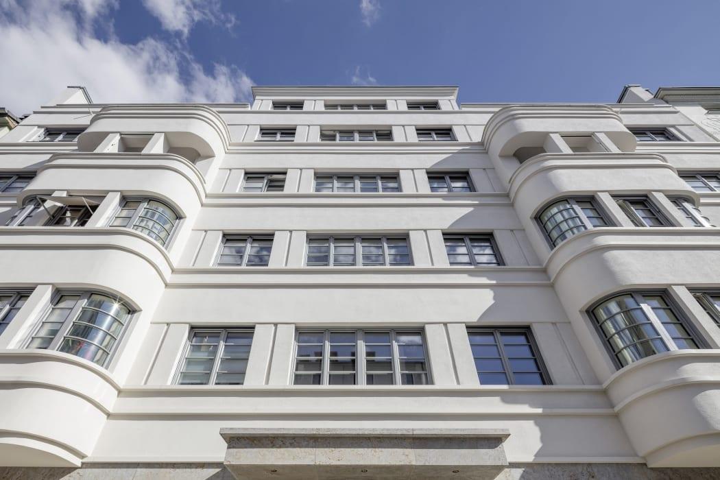 RKW Duesseldorf Bongardstrasse Wohnbebauung Wohnhaus Gebaeudeensemble Wohnpalais Stadtpalais Ralph Richter 06