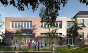 RKW Duesseldorf Einsiedelstrasse Ganztagsschule Bestandsgebaeude Grundschule katholisch Michael Reisch 01