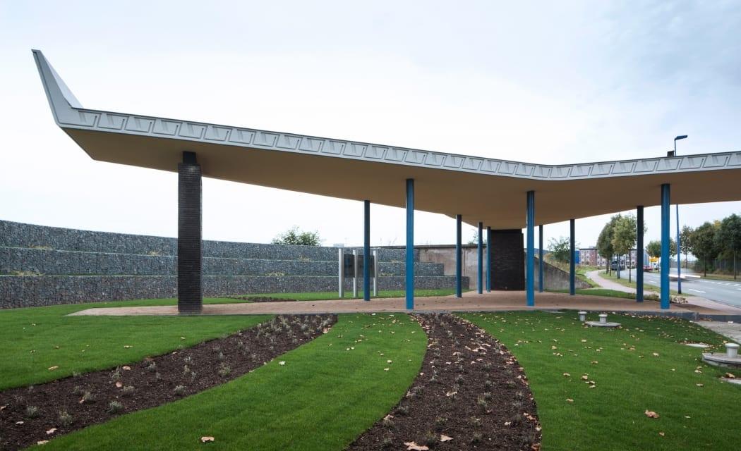 RKW Duisburg Tor 1 Huettenwerk Ruhrgebiet nach Entwurf von Architekt Peter Neufert Krupp Werk Stahlproduktion Spannbeton Marcus Pietrek 01