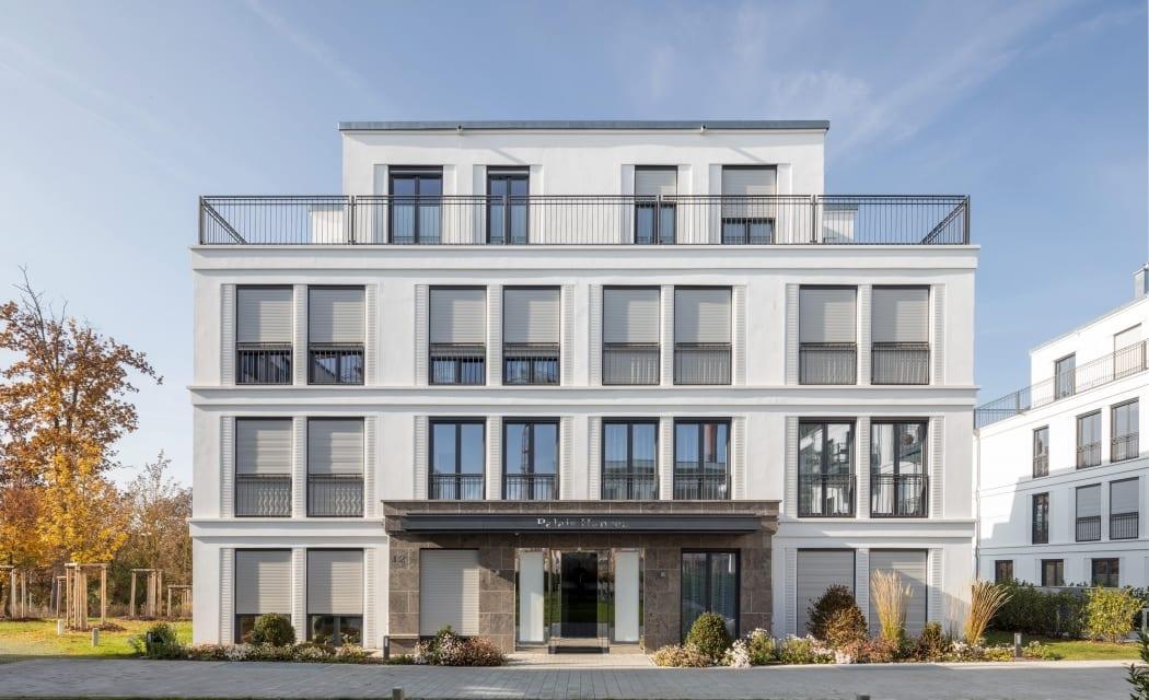 RKW Fuerth Wohnparkt Rednitzaue Wohnbebauung Wohnhaus Klassikgaerten Gebaeudeensemble Wohnpalais Stadtpalais Ralph Richter 01