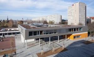 RKW Leipzig Pablo Neruda grundschule Einfeldsporthalle Bauteilaktivierung Pasivhaisstandart Waermepumpentech Moser Images 2