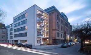 RKW Neuss Marienkirchplatz Wohnbebauung gefoerderter Wohnungsbau Denkmalschutz Wohnraum fuer Alt und Jung Joerg Hempel 01