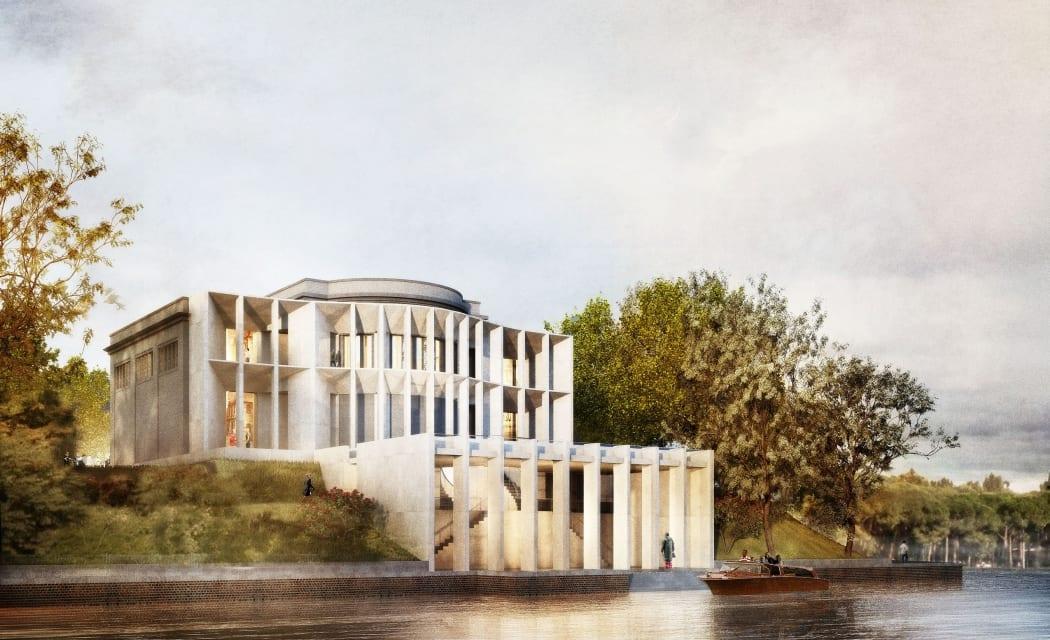 RKW Venedieg Italien Deutscher Pavillon Biennale Deutscher Werkbund This is modern Ausstellungshalle Canale Grande 02