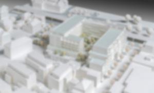 RKW Entwicklung Areal Altes Finanzamt Oldenburg Modellfoto Thomas Schmidt ICONWORX Bochum 01
