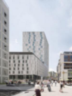 07 Ansicht NO: Mailänder Platz Fassadenansicht