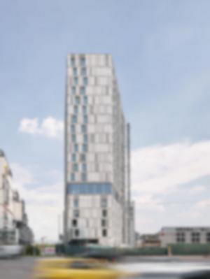 09 Ansicht West: Heilbronner Straße Fassadenansicht